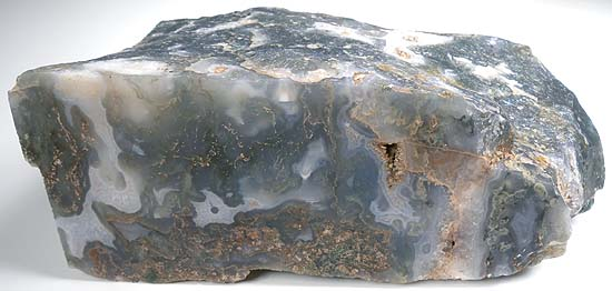 Green Moss Agate Cutting Rough